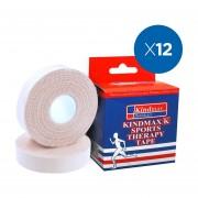 Pack 12x Venda Rígida Kindmax Tipo Leukotape Blanco