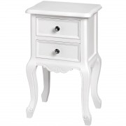 Fleur White 2 Drawer Side/Lamp Table