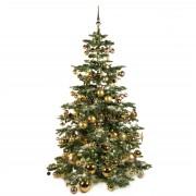 Xmasdeco Luxe kunstkerstboom goud mocca 210cm