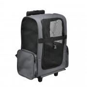 PremiumXL - [pro.tec] 2 in 1 ruksak/kofer sa točkovima za ljubimce (siva)