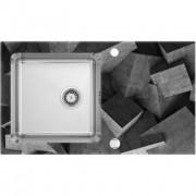 Pallas Beton üveg-rozsdamentes mosogató - fózolt 86x50x20 cm
