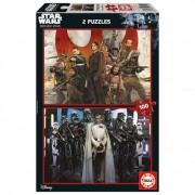Educa Zsivány Egyes - Star Wars történet puzzle, 2x100 darabos