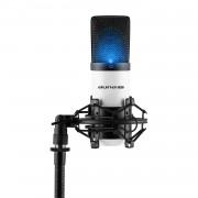 Auna Pro MIC-900-WH LED, бяло, USB, студиен микрофон с кондензатор, кардиоиден, студиен (HKMIC-900-WH-LED)