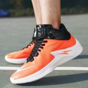Zapatillas Hombre Antideslizante Para Baloncesto Desodorante - Naranja