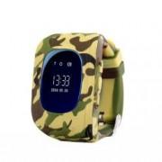 Ceas Smartwatch Pentru Copii Wonlex Q50 cu Functie Telefon Localizare GPS - Camuflaj Galben Bonus Cartela Prepaid Vodafone 10