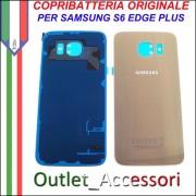 Copribatteria Back Cover Originale Samsung Galaxy S6 Edge Plus GOLD ORO G928F Vetro