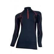 Ada bluza damska LS01040 (czarno-czerwony)