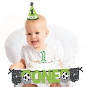 GOAAAL! - Soccer - 1st Birthday Boy or Girl Smash Cake Decorating Kit - High Chair Decorations