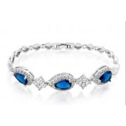 Princess Elegantly Designed Blue Princess Cut Bracelet
