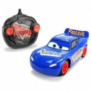 Masina de jucarie cu telecomanda sub forma de volan RC 1/24 4 directii Cars Fabulosul Fulger McQueen Albastru