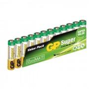 GP BATTERIES Piles Super Alcalines - GP 24A-S12 / LR03 / AAA - Flim de 12 piles