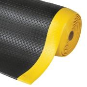 Černo-žlutá metrážová protiúnavová průmyslová rohož - šířka 122 cm a výška 1,27 cm