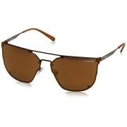 ARNETTE An3073 Hundo Gafas de sol cuadradas para hombre, café/Marrón Espejo Bronce, 63 mm