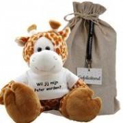 Funnies Knuffel Giraf 45 cm Wil jij mijn peter worden