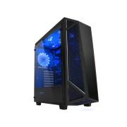 RaidMax Caja Gaming Sigma I A14 TBB - ATX, Ventana lateral, Ventilador de 140mm LED Azul, 2x USB 3.0, Audio & Sonido Frontal, Negro