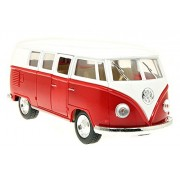 Toyshine 1:32 Metal Die Cast Car 1962 Volkswagen Classical Bus, Opening Doors, Vehicle Toy Car, 5 inches (Color May Vary)