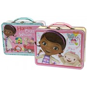 "Bundle of 2 Assorted Tin Box Co 7.5"" Lunch Boxes - Doc McStuffins"