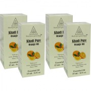 Khadi Pure Herbal Orange Essential Oil - 15ml (Set of 4)