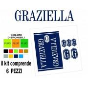 Adesivi Graziella kit da 6 pezzi a colori