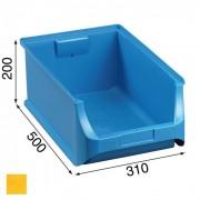 Allit Plastové boxy plus 5, 310 x 500 x 200 mm, žluté, 6 ks