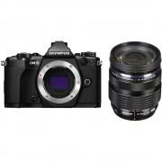 Olympus OM-D E-M5 Mark II Aparat Foto Mirrorless 16MP MFT Full HD Kit cu Obiectiv 12-40mm F2.8 Negru