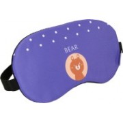 Skylofts Cute Teddy Bear Eye Mask Sleeping Masks with Ice Pack & Blindfold for Flights/ Bus/Train/Cars Eye Shade(Blue)