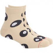 Soxytoes The Cue-Rius Case Of Soxytoes Beige Cotton Ankle Length Pack of 1 Pair for Men Casual Socks (STS0011B)
