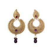 Indian Style Beaded Dangle Drop Fashionable Earrings Traditional Jhumka Jhumki Earrings for Women 21 PURPLE