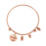 CO88 Armband 'Life-Zen' staal/rosékleurig, all-size 8CB-13011