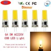 JRLED G4 5W 24-COB calientan las bombillas blancas del LED (ac 220V / 5PCS)