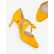 Boden Chaussures Lavinia à talons mi-hauts YEL Femme Boden, Yellow - 38½