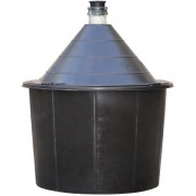 Damigeana 54L, Dop cauciuc, Cos din plastic negru