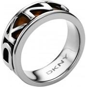 DKNY Inel de oțel cu inscripție NJ1892040 53 mm