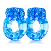Stay Hard Vibrating Cock Rings - 2 Pack - Blue