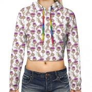 GULTMEE Sudadera con Capucha para Mujer, diseño de líneas Curvas de Diferentes tamaños, Rayas atrevidas, patrón Inspirado en Olas del océano, S-XL, Multicolor2, XL