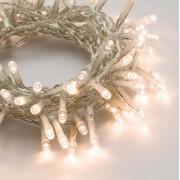 e-Led Light Catena 96 luci LED Reflex Bianco Caldo a Batteria cavo trasparente per interno/esterno con controller memory
