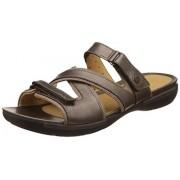Clarks Women's Un Verlee Bronze Brown Leather Sneakers - 5 UK/India (38 EU)