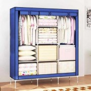 House of Quirk PVC Collapsible Wardrobe Cloth Storage Wardrobe Storage Cabinet