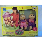 Cabbage Patch Kids Twin Girl Cuddlers and so Cute Twin Stroller