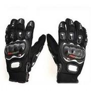 SGOM Black Pro Biker Gloves For Winters