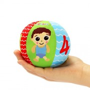 YeahiBaby Baby Balls with Bell - 8cm Hand Grasping Soft Plush Stuffed Ball for Toddlers