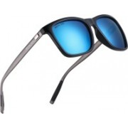 ROYAL SON Retro Square Sunglasses(Blue, Grey)