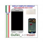 Display LCD Touch Originale Samsung Ace 4 SM-G357 G357FZ GH97-15986A Bianco Schermo Vetro