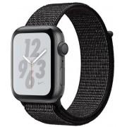 Smartwatch Apple Watch 4 Nike Plus, 40mm, LTPO OLED Retina Display, GPS, Bluetooth, Wi-Fi, Bratara Sport Loop Neagra, Carcasa aluminiu, Rezistent la apa si praf (Space Gray) + Cartela SIM Orange PrePay, 6 euro credit, 6 GB internet 4G, 2,000 minute nation