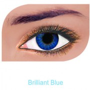 FreshLook Colorblends Power Contact lens Pack Of 2 With Affable Free Lens Case And affable Contact Lens Spoon (-6.50Brilliant Blue)