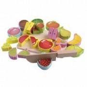 Jucarie educativa Montessori Set de fructe magnetice de taiat din lemn