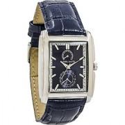 Daniel David Men  RectangularBlue Dial & TexturedBlueLeather Watch   DD12501