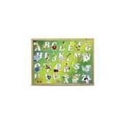 Quebra-Cabeça Alfabeto Ilustrado Grande com 26 Peças