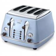 DeLonghi Icona Vintage 4 Slice Toaster - Icona Vintage Anita Blue