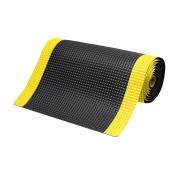 Černo-žlutá laminovaná průmyslová protiúnavová rohož - délka 21,9 m, šířka 60 cm a výška 1,9 cm